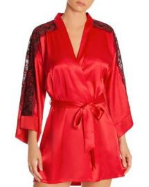 In Bloom by Jonquil Lace-Inset Satin Wrap Robe Women - Bloomingdale s at Bloomingdales