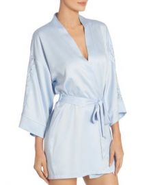 In Bloom by Jonquil Lace-Trim Satin Wrap Robe Women - Bloomingdale s at Bloomingdales