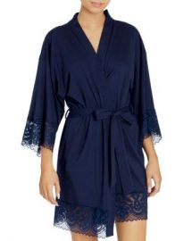 In Bloom by Jonquil Lace-Trim Wrap Robe Women - Bloomingdale s at Bloomingdales