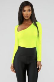In The End Bodysuit - Neon Yellow at Fashion Nova