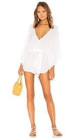 Indah Sunday Kimono Romper in White from Revolve com at Revolve