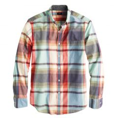 Indian Cotton Shirt in Poppy Plaid at J. Crew