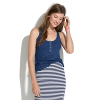Indigo Ink henley tank at Madewell