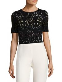 Ines Multicolor Pointelle Crop Top by Alice   Olivia at Gilt at Gilt
