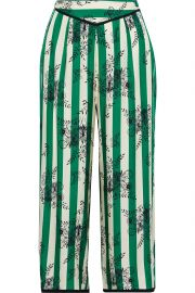 Ines cropped striped satin-twill pajama pants at The Outnet