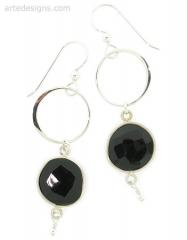 Infinity Black Spinel Earrings at Arte Designs
