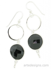 Infinity Black Spinel Earrings at Arte Designs