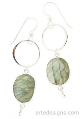 Infinity Labrodite Earrings at Arte Designs