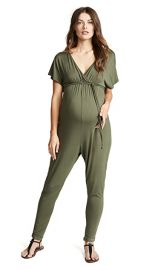 Ingrid  amp  Isabel Maternity Cross Front Jumpsuit at Shopbop