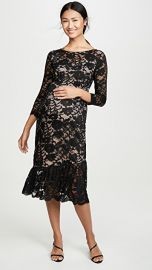 Ingrid  amp  Isabel 3 4 Sleeve Flounce Hem Lace Dress at Shopbop