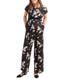 Ingrid  amp  Isabel Maternity Floral Print Jumpsuit Women - Bloomingdale s at Bloomingdales