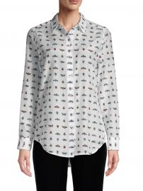 Insect Print Silk Blouse at Equipment