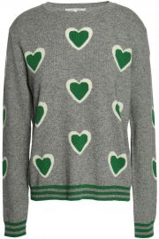 Intarsia wool and cashmere-blend sweater at The Outnet