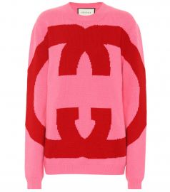 Intarsia wool sweater at Mytheresa