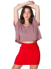Interlock Mini Skirt by American Apparel in Red at Amazon