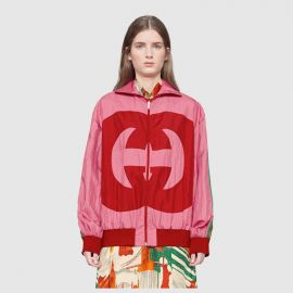 Interlocking G technical jersey jacket at Gucci