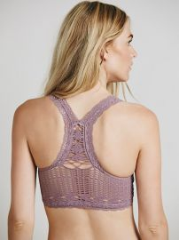 Intimately  Seamless Racerback Crochet Bra in Dusty Plum at Free People