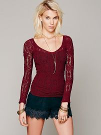 Intimately Long Sleeve Vneck at Free People