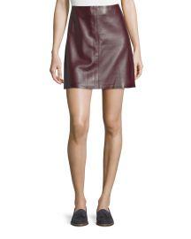 Irenah Wilmore Leather Miniskirt at Neiman Marcus