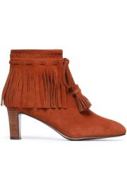 Irina fringed suede ankle boots at The Outnet