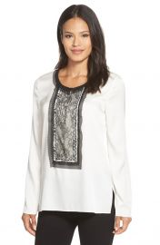 Iris Lace Trim Stretch Silk Tunic by Kobi Halperin  at Nordstrom