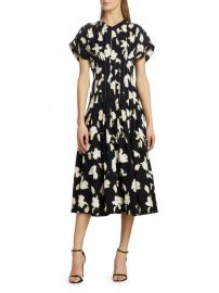 Iris Print Georgette Dress by Proenza Schouler at Saks Fifth Avenue