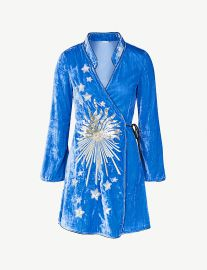 Iris embellished velvet mini wrap dress at Selfridges