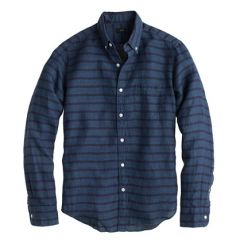 Irish Linen Stripe Shirt at J. Crew