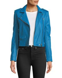 Iro Ashville Cropped Leather Jacket at Neiman Marcus