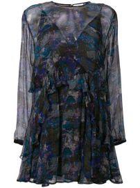 Iro Abstract Print Sheer Dress at Farfetch