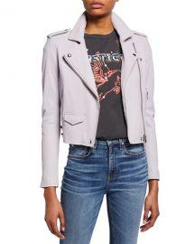 Iro Ashville Cropped Leather Jacket at Neiman Marcus
