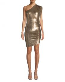 Iro Exciter Sequin One-Shoulder Mini Dress at Neiman Marcus