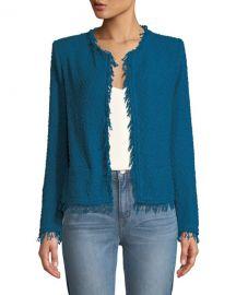Iro Shavani Frayed Boucle-Knit Jacket at Neiman Marcus