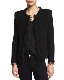Iro Shavani Open-Front Boucle Jacket at Neiman Marcus