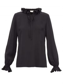 Irving ruffled tie-neck silk blouse at Matches