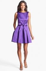 Isaac Mizrahi New York Mikado Fit andamp Flare Dress in purple at Nordstrom
