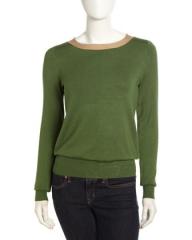 Isaac Mizrahi Tie Back Colorblock Sweater at Last Call