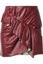 Isabel Marant Etoile   Zeist ruffled faux textured-leather at Net A Porter