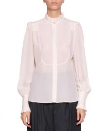 Isabel Marant Sloan Victorian Blouse in White at Linde Le Palais