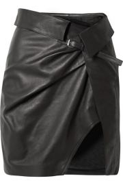 Isabel Marant   Baixa leather wrap mini skirt at Net A Porter