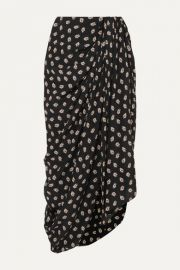 Isabel Marant - Candice draped floral-print silk-crepe midi skirt at Net A Porter