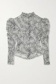 Isabel Marant - Emsley printed cotton and silk-blend blouse at Net A Porter
