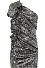 Isabel Marant   Gia brocade one-shoulder dress at Net A Porter