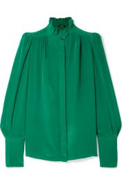 Isabel Marant - Lamia ruffle-trimmed silk blouse at Net A Porter