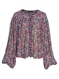 Isabel Marant - Orionea Blooming Silk Blouse at Saks Fifth Avenue