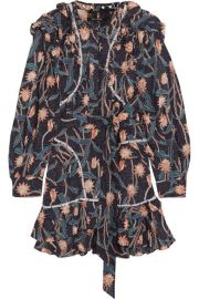 Isabel Marant - Ullo embellished floral-print cotton dress at Net A Porter