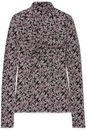 Isabel Marant   toile - Truey floral-print stretch-jersey turtleneck top at Net A Porter