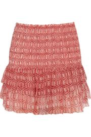 Isabel Marant   toile - Zelia printed silk-chiffon mini skirt at Net A Porter