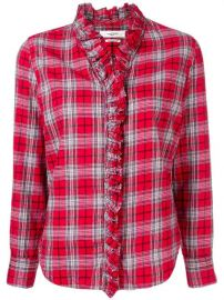 Isabel Marant   toile Plaid long-sleeve Shirt - Farfetch at Farfetch