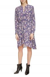 Isabel Marant   toile Yandra Long Sleeve Silk Dress   Nordstrom at Nordstrom